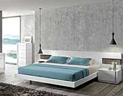 Contemporary white lacquer Bed SJ Aletta