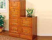Two Drawer Oak File Cabinet CO 317
