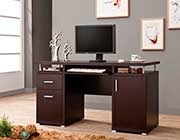 Cappuccino Modern Desk with CO 107