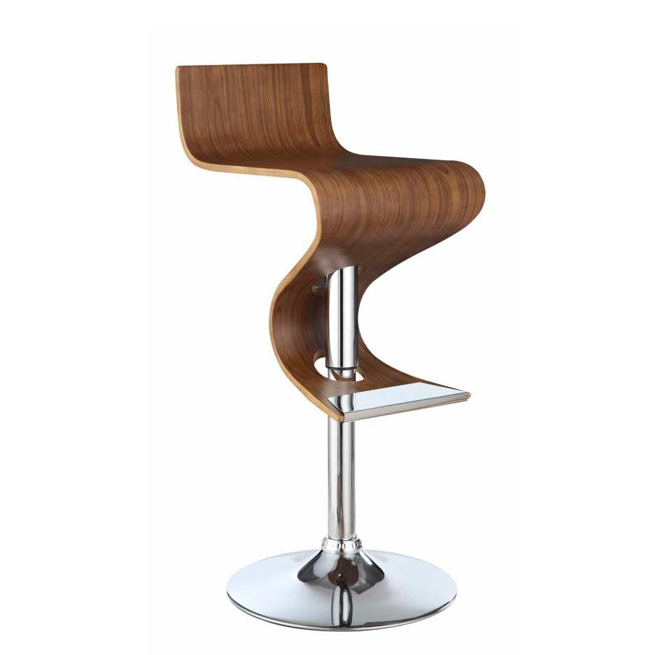 Walnut Adjustable Bar Stool Co 396 Bar Stools