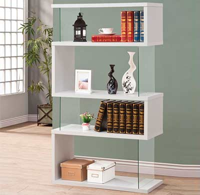 Modern White Bookcase CO 300