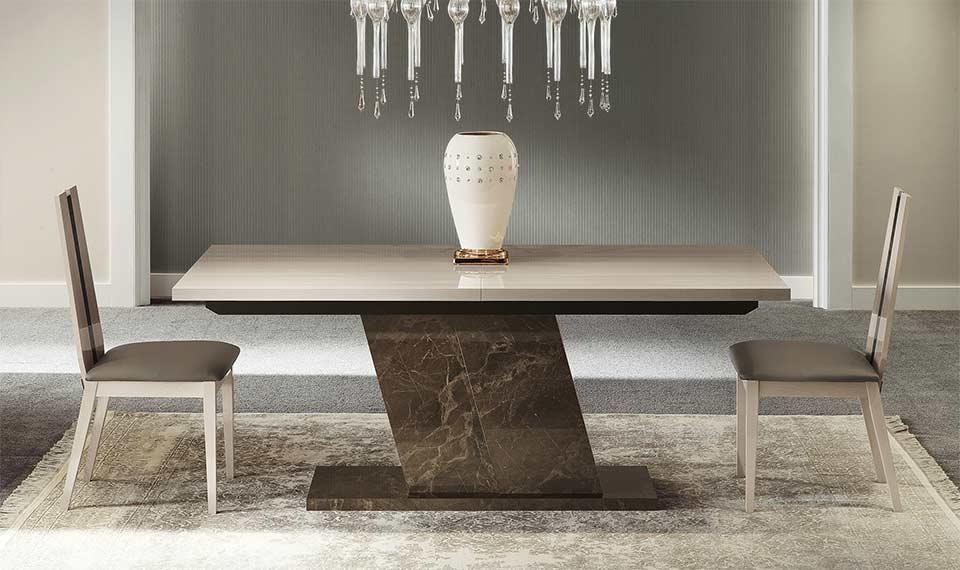 Contemporary Dining Room Sets Italian teodora extendible diningalf furniture | alf dining room furniture