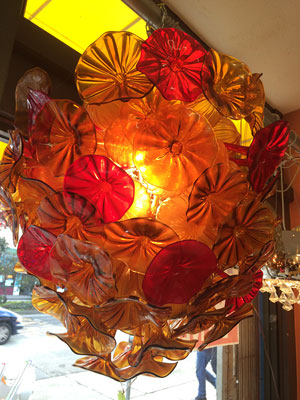 Autumn Expression Glass Chandelier