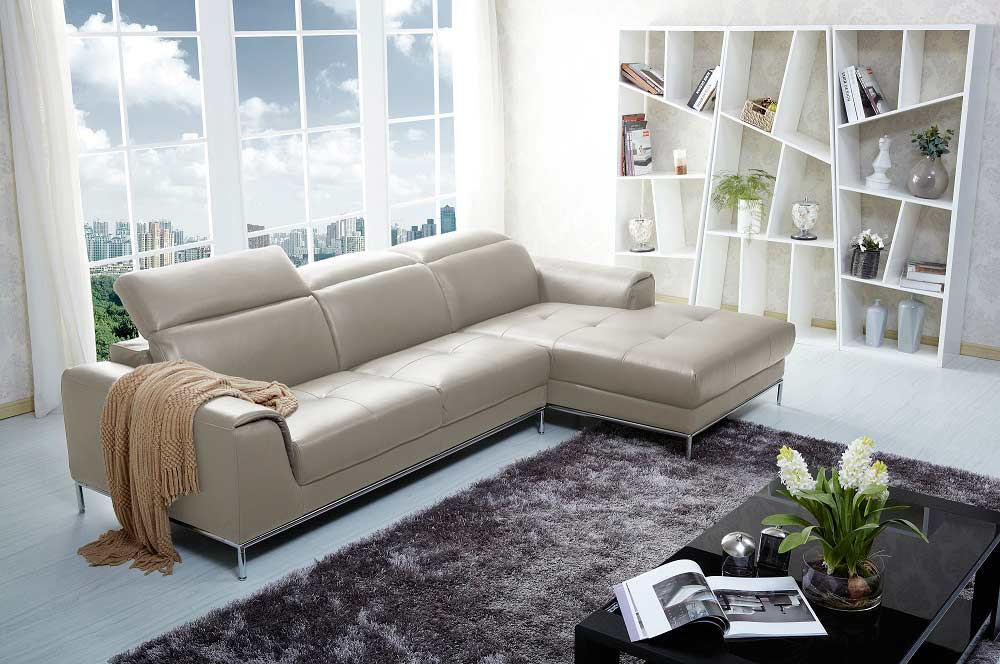 Italian Brown Leather Sectional Sofa Nj727 Leather Sectionals