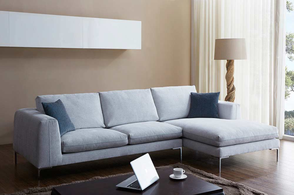 Off White Fabric Sectional Sofa Nj Blanca Fabric