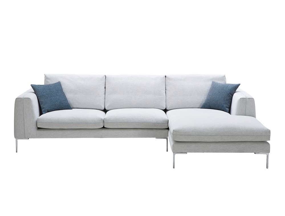Off white fabric sectional sofa nj blanca fabric for Modern sectional sofas