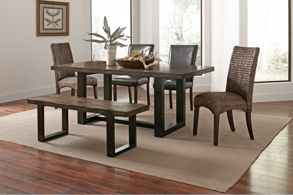 Transitional Two Tone Dining Table Co641 Urban