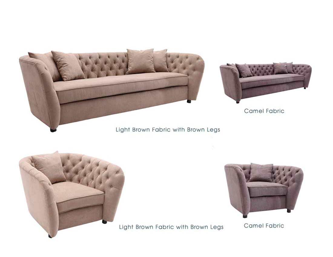 Light Brown Fabric Sofa ArL Renie ...