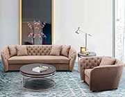 Light Brown Fabric Sofa ArL Renie