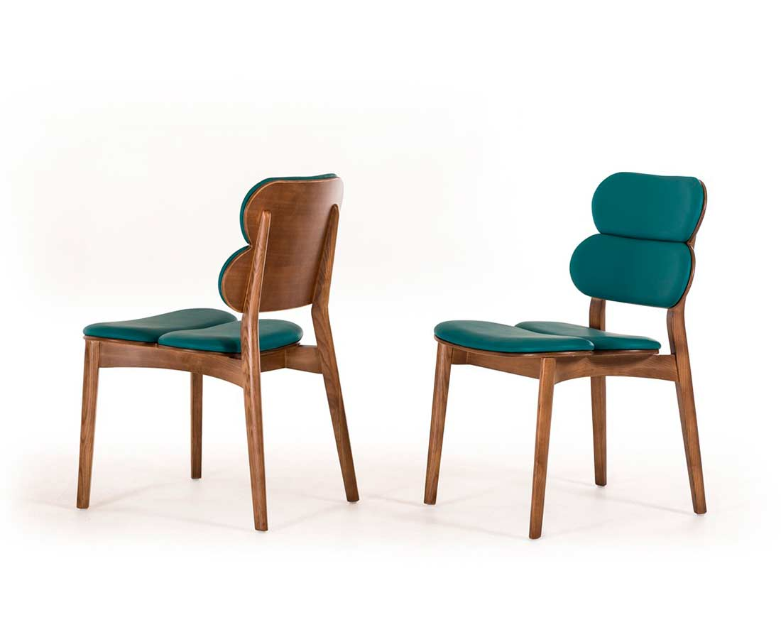 Turquoise Leatherette Dining Chair Vg 069 Modern Chairs