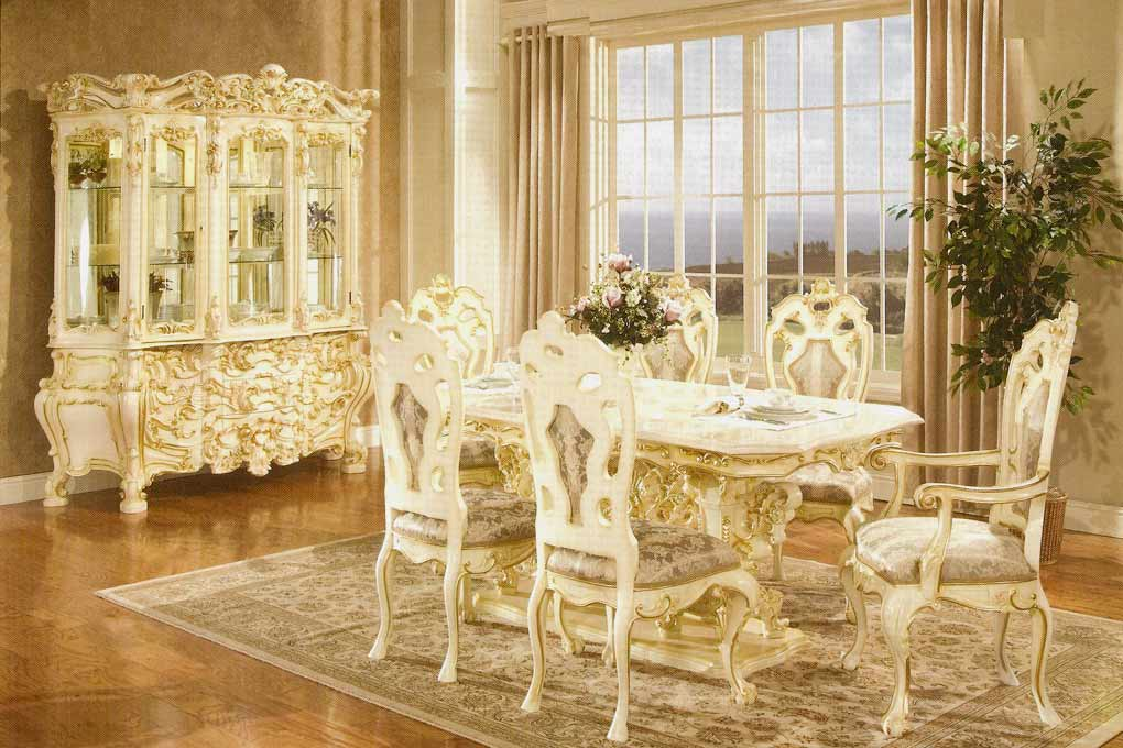 French provincial dining 755 baroque dining tables for French dining room furniture
