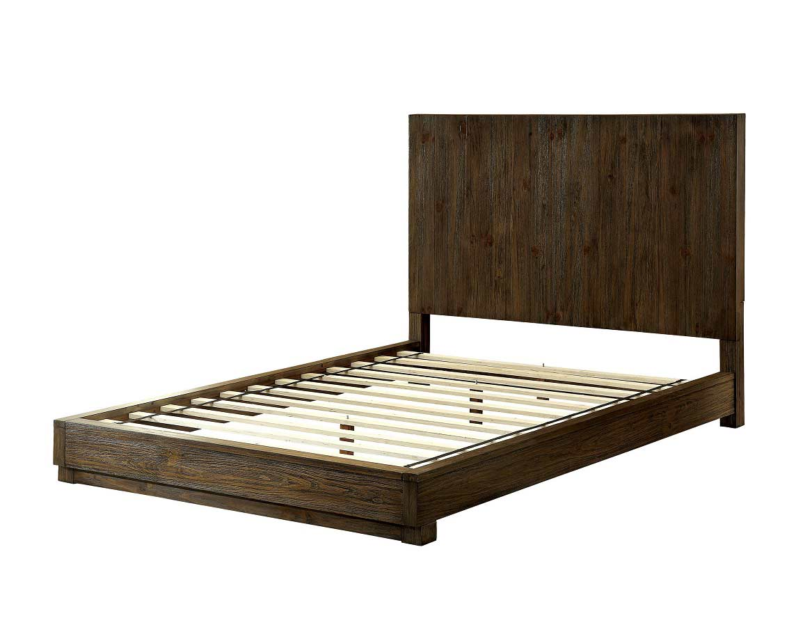 low profile bed with flat wood panel headboard fa24 urban tr