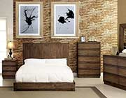 Low Profile Bed with Flat Wood Panel Headboard FA24
