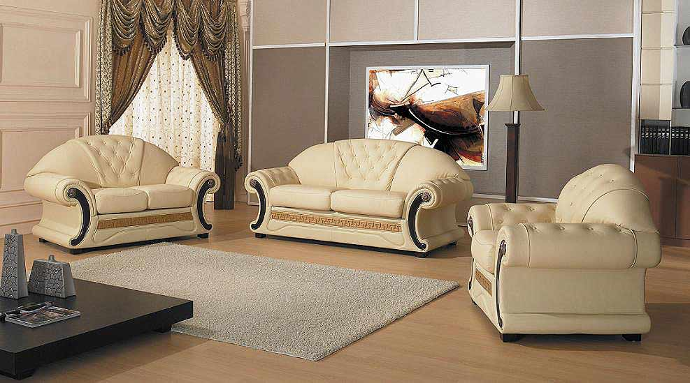 Barocco Leather Sofa Provincial