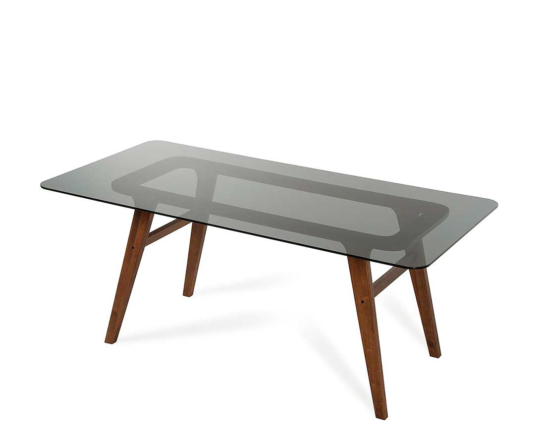 Smoked glass dining table vg858 modern dining for Modern glass dining table