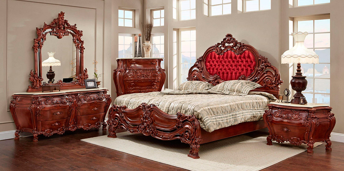 French Provincial Bed Collection Classic Bedroom