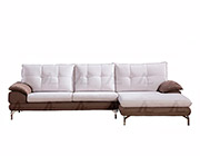 Gray Microfiber Sofa Sectional AE366