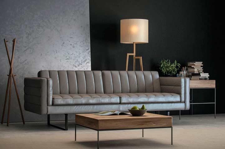 Top Grain Leather Orson Sofa By Moroni Leather Sofas