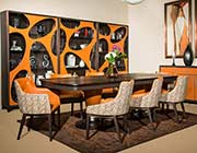 21 Cosmopolitan Orange Dining table by AICO