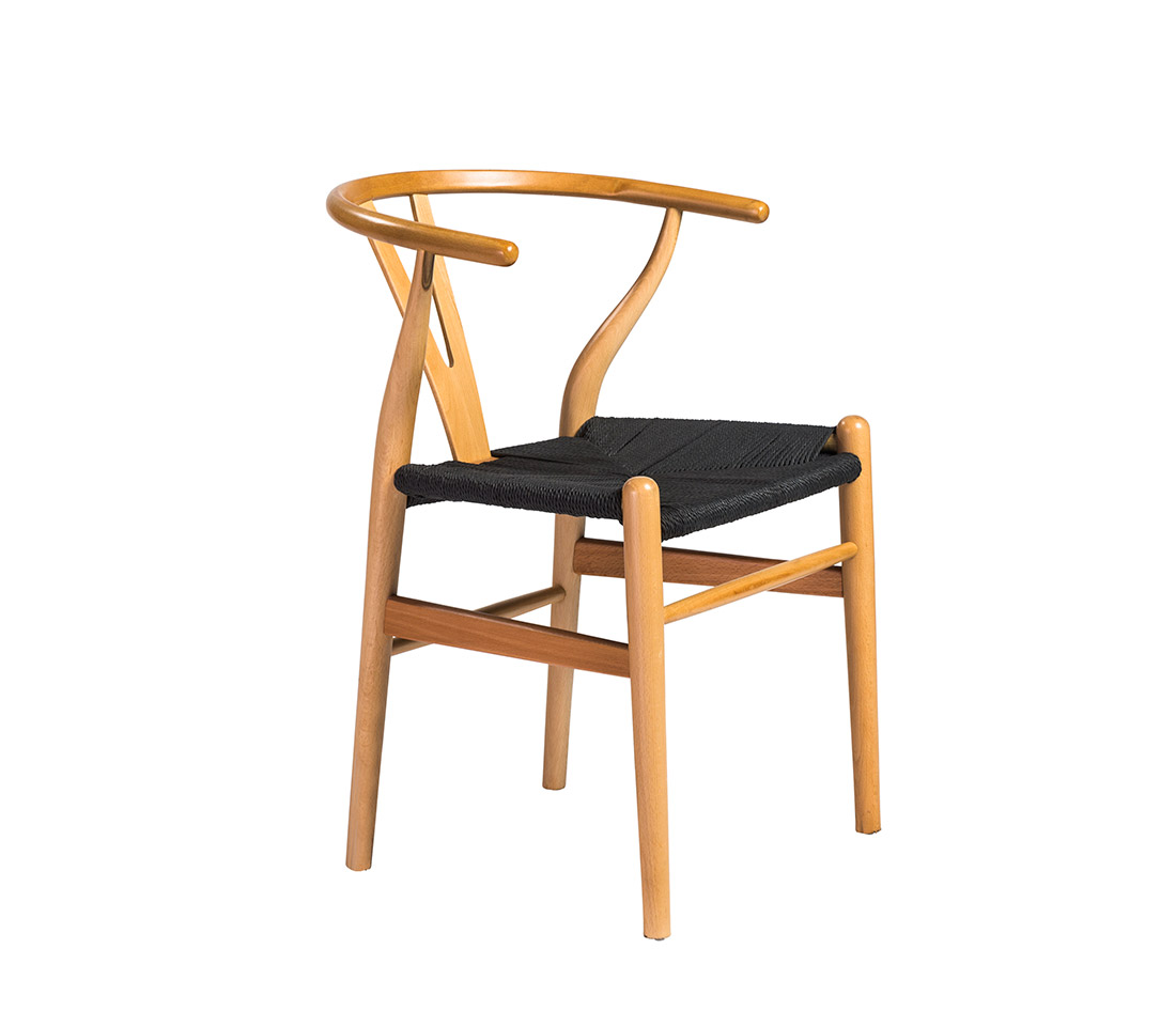 Side Chair With Black Rush Seat Edana Modern Chairs