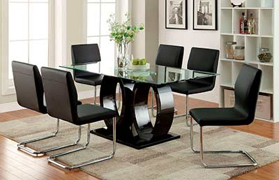 Black Wood Dining Table FA 825T
