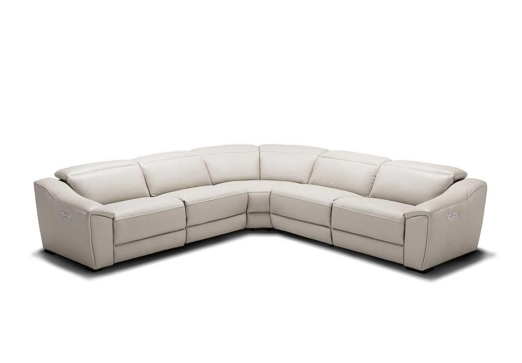 Silver Grey Recliner Leather Sectional Sofa NJ 775 | Leather ...