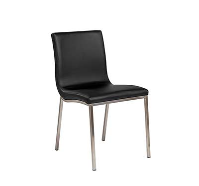 Black side chair Estyle 960