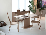 Discovery Taupe Extendable Table by Domitalia