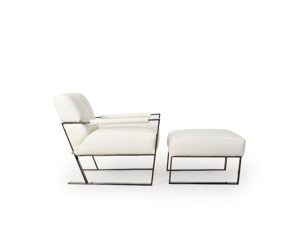 Miraculous White Leather Lounge Chair By Moroni Accent Seating Evergreenethics Interior Chair Design Evergreenethicsorg