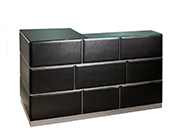 Glass Top Bar in Black Sh Dianne