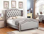 Metallic Leatherette bed CO 824