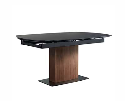 Ayana Black Extendable Dining Table by Eurostyle