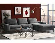 Gray Sectional Sofa DS Flax