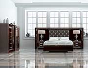 Chocolate High Gloss Tufted Bed EF83