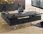 Black Faux Leather Desk AE 01