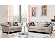 Silver gray fabric sofa set AE 600