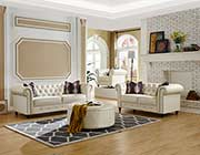 White Leatherette Sofa Set MF 802