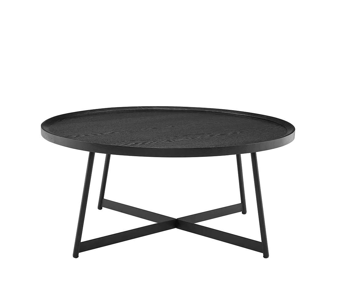 Niklaus Black Ash Round Coffee Table By Eurostyle