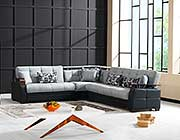 Stone Black Modular Sectional sofa bed Moon