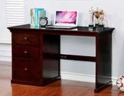 Dark Walnut Desk with Amle storage FA 602
