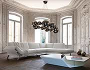 White Leather Sectional Sofa VG 533