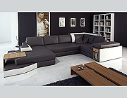 Leather Black White Sofa sectional 14