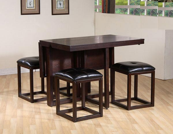 Stanley Furniture American View Cherry Table Leather Chairs