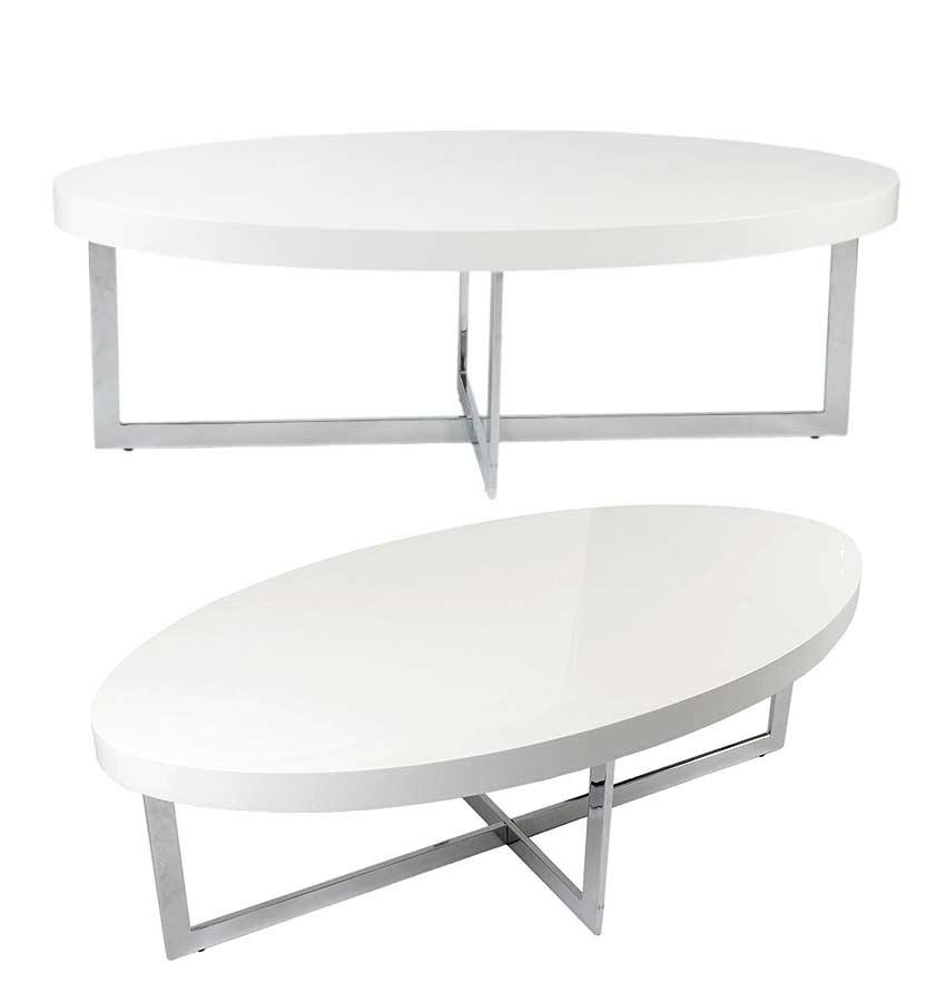 Olivia Coffe Table Walnut Or White Lacquer Contemporary