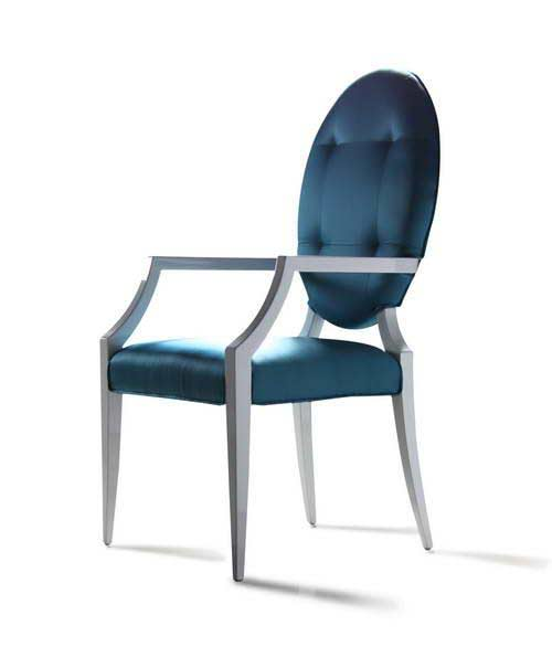 Lumino Teal Fabric Dining Chair