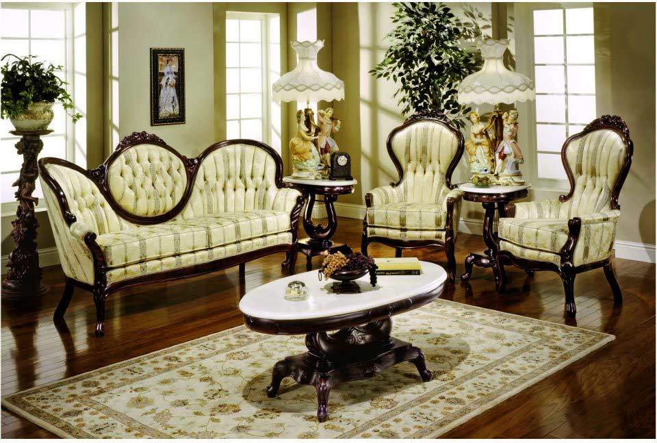 Sofa provincial 6062 baroque sofas - Victorian living room set for sale ...