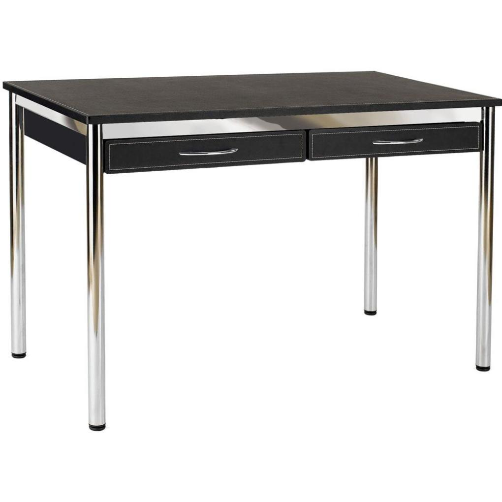 Home >> Office Furniture >> Desks >> Ledah Leather Desk-Black-Chrome