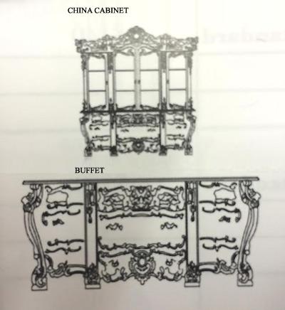 Victorian dining room set 01 baroque dining tables for Baroque dining table set