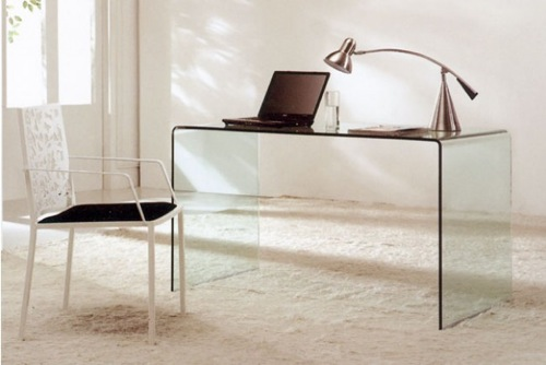 Modern Bent Glass Office Desk Desks