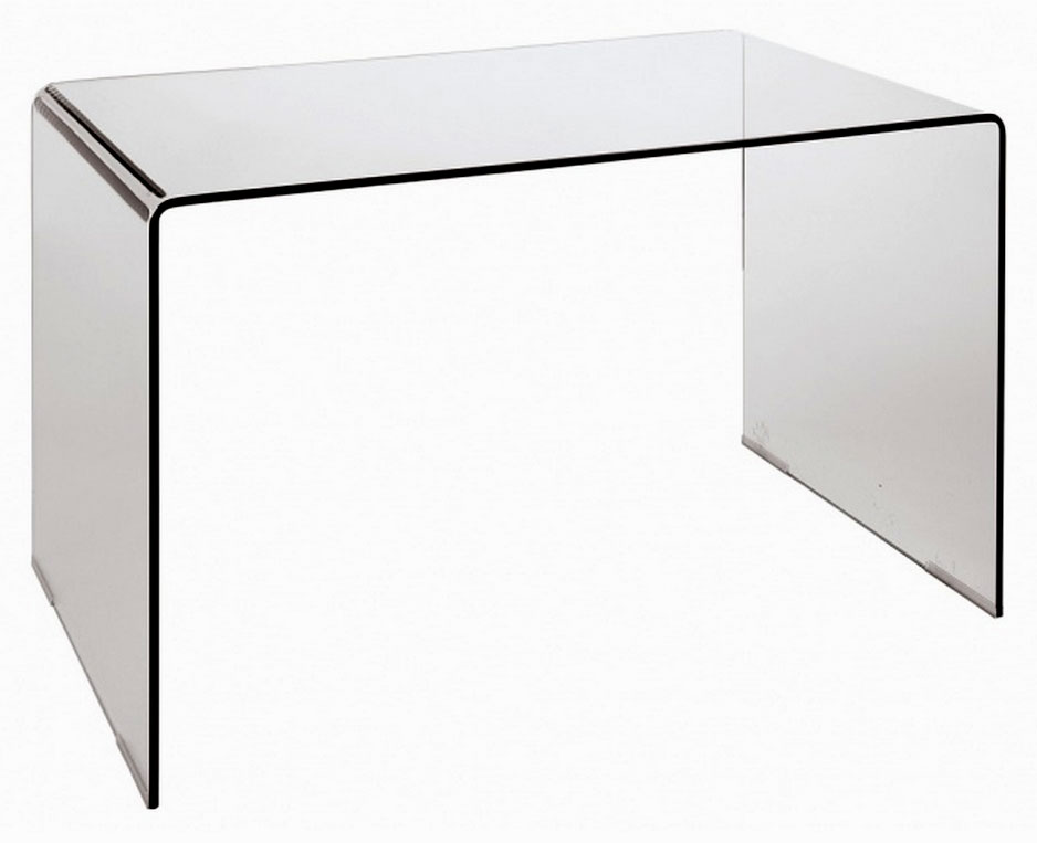 Modern Bent Glass Office Desk Cr09 Desks